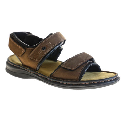 Josef Seibel, Rafe, Sandals, Leather, Brasil/Black at Sole Drifter