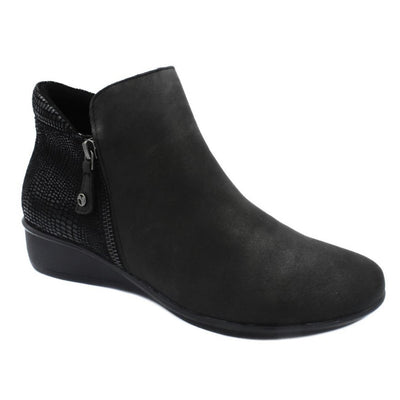 Revere, Damascus, Boot, Leather, Onyx/Black Lizard Boots Revere Onyx/Black Lizard 8.5
