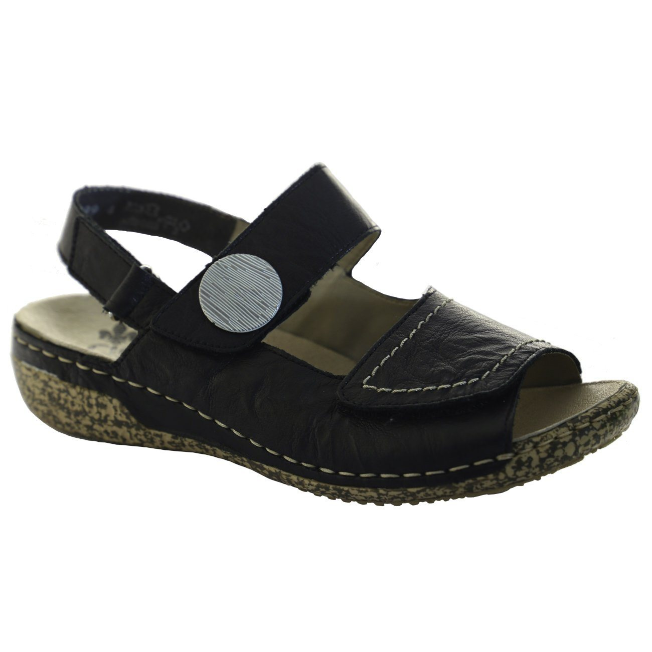 Rieker Antistress, V7272_00, Sandal, Women, Leather Sandals Rieker Antistress Black 36