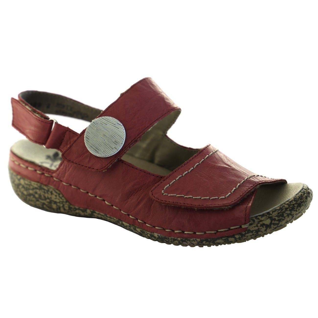 Rieker Antistress, V7272_33, Sandal, Women, Leather Sandals Rieker Antistress Rosso 36