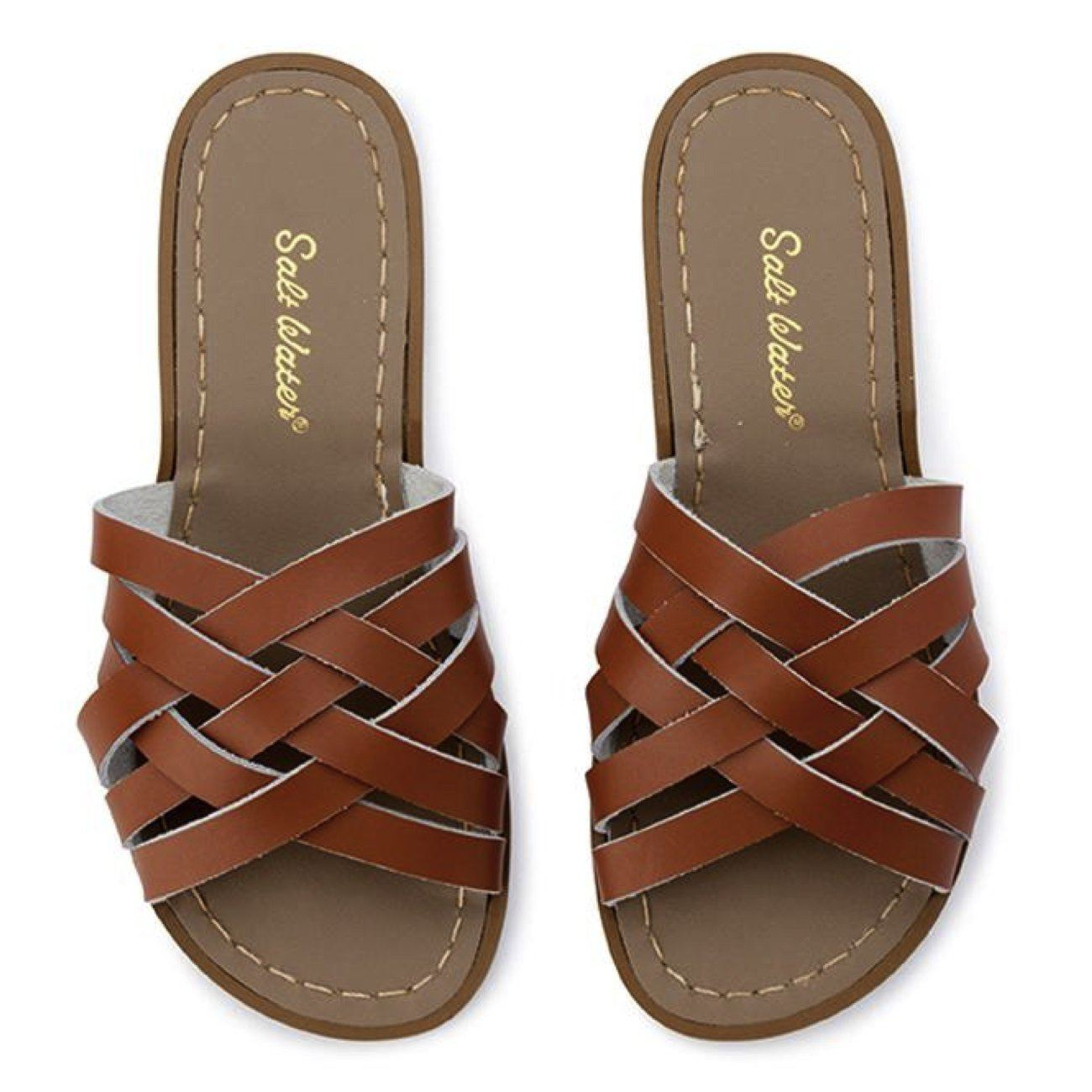 Salt Water Sandals, Retro Slide, Adult, Tan Sandals Salt Water Sandals Tan A4