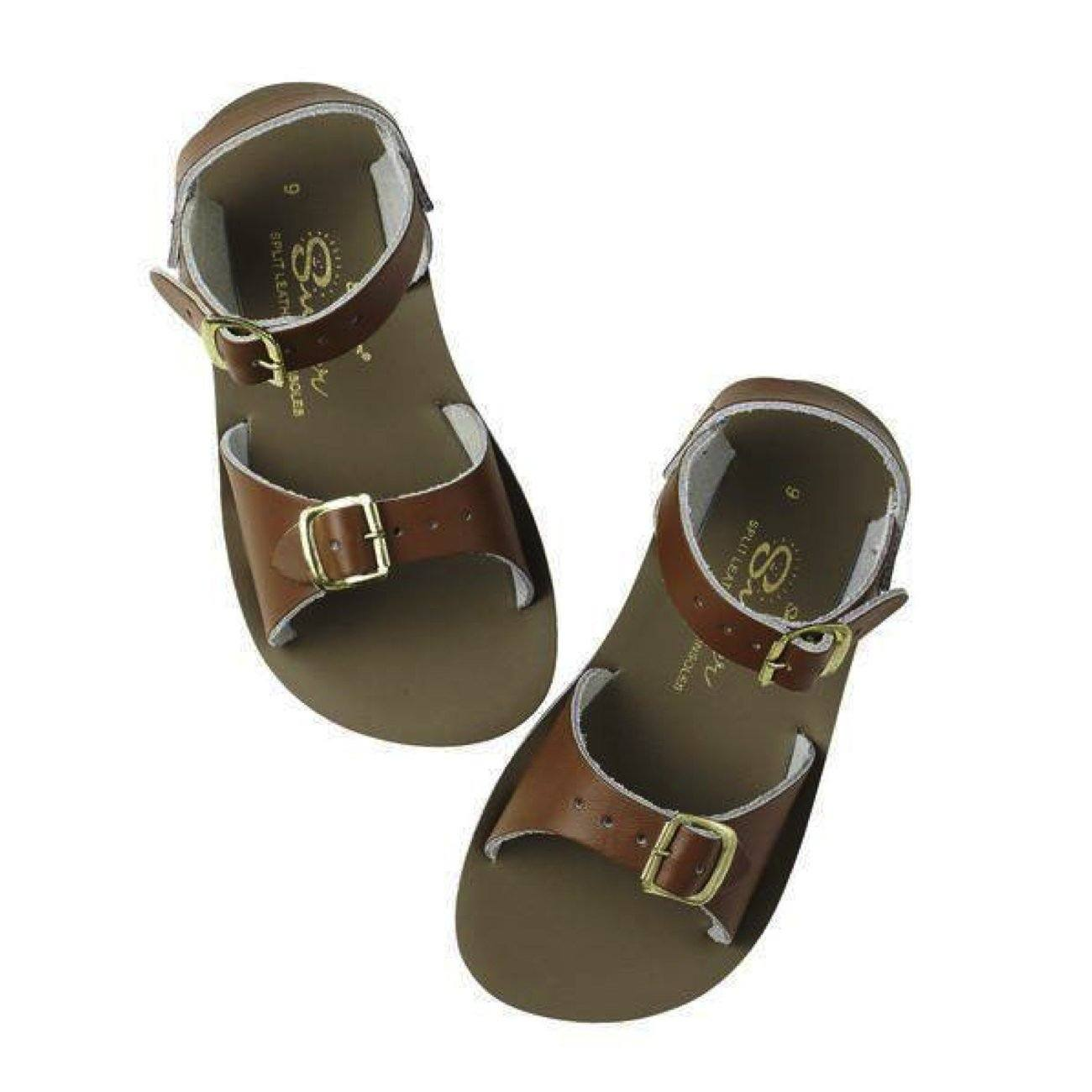Salt Water Sandals, Sun-San Surfer, Child, Tan Sandals Salt Water Sandals Tan Child 10