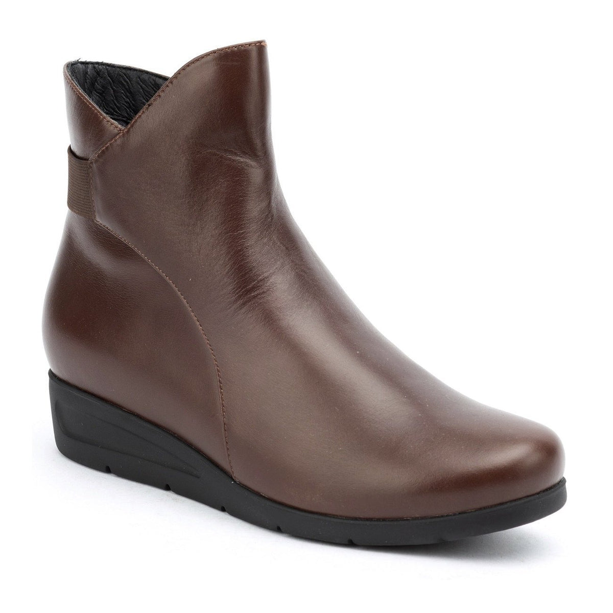 Silver Lining, Greta, Leather, Boot, Coffee Boots Silver Lining Coffee 39