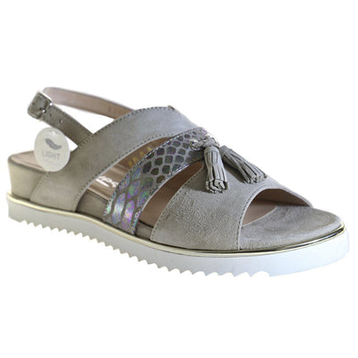 Softwaves, SWS18-10, Sandal, Leather, Beige - Birkenstock Hahndorf