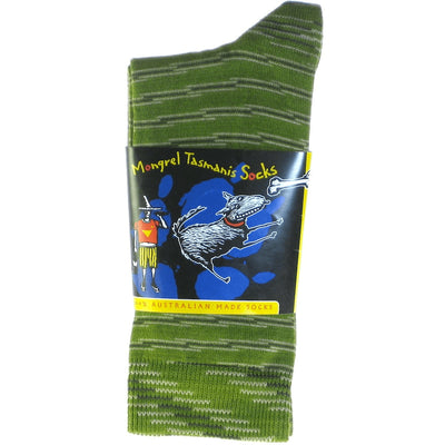 Mongrel Crew Socks, 94% Pure Cotton, 3% Elastine 3% Stretch Nylon