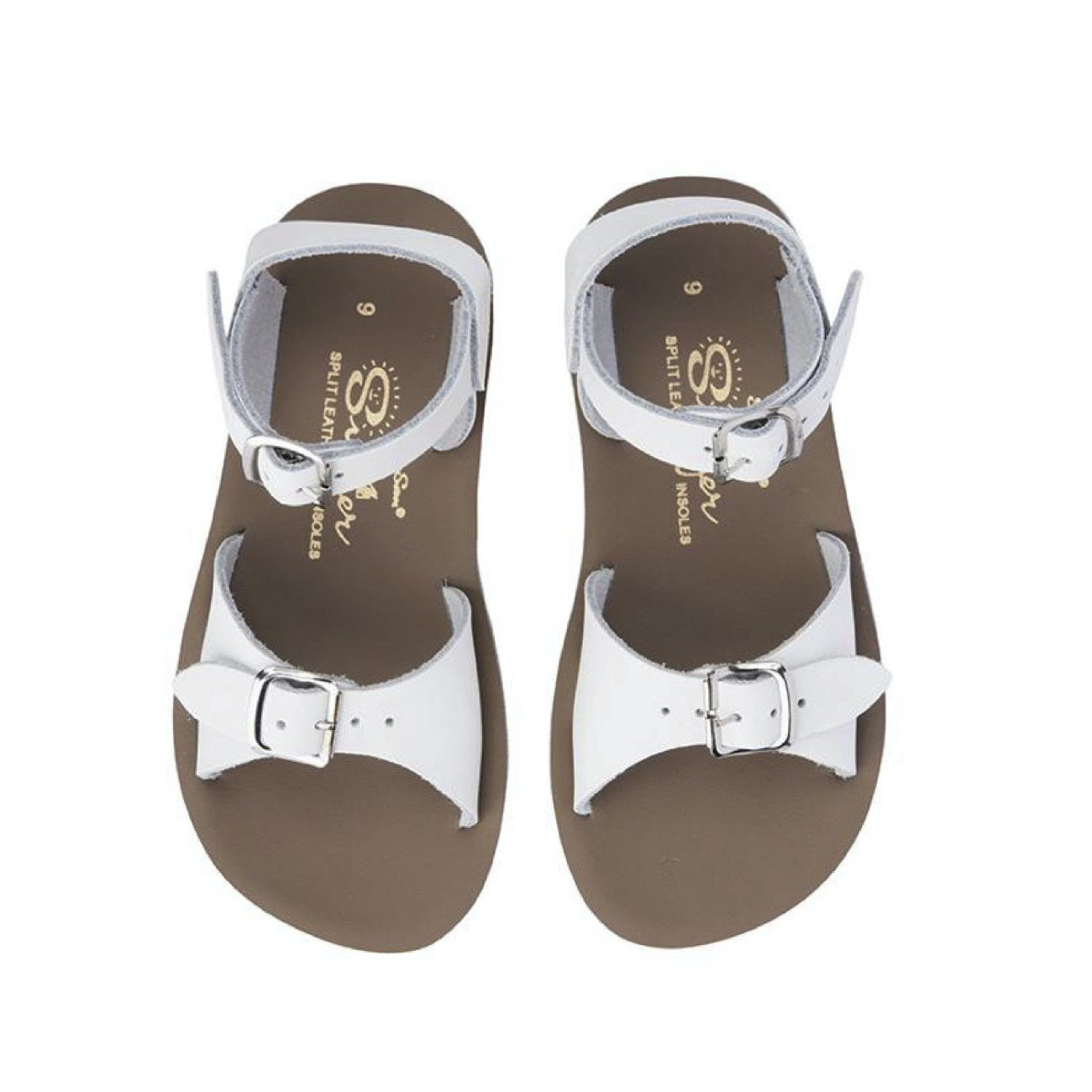 Salt Water Sandals, Sun-San Surfer, Child, White Sandals Salt Water Sandals White Child 9