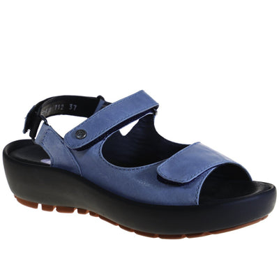 Wolky, Rio, Sandals, Leather, Denim Sandals Wolky