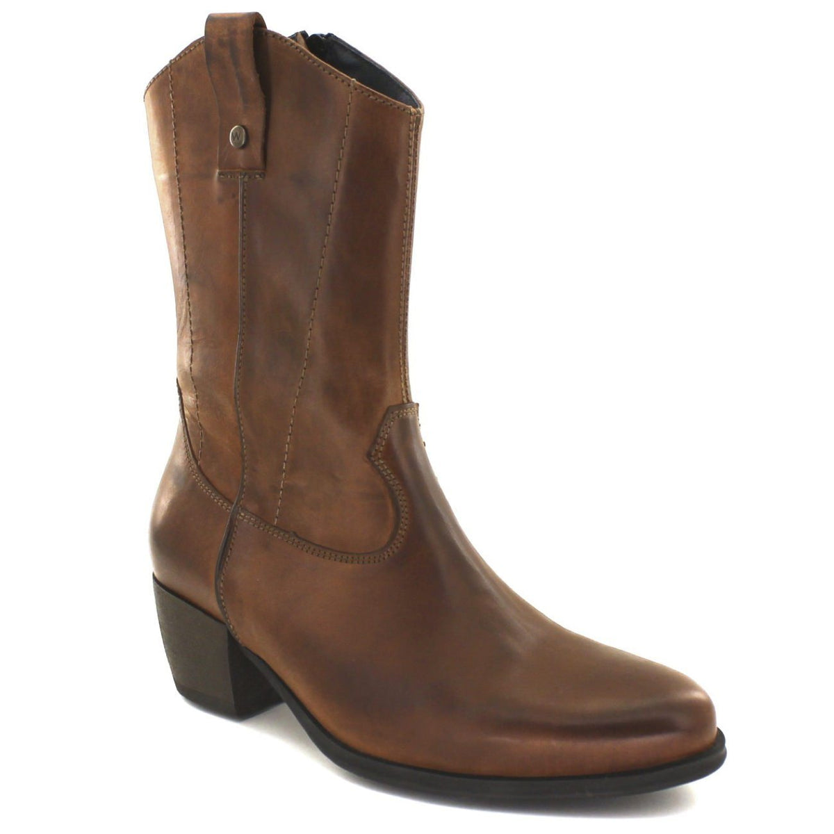 Wolky, Caprock, Boots, Softy Wax Leather, Ladies, Cognac Boots Wolky Cognac 36