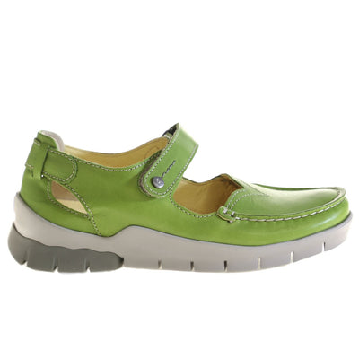 Wolky, Polina, Shoes, Leather, 70-750 Lime Shoes Wolky