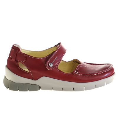 Wolky, Polina, Shoes, Leather, 70-570 Red Summer Shoes Wolky