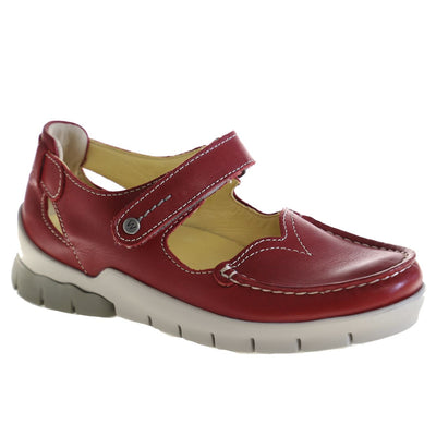 Wolky, Polina, Shoes, Leather, 70-570 Red Summer Shoes Wolky 70-570 Red Summer 37