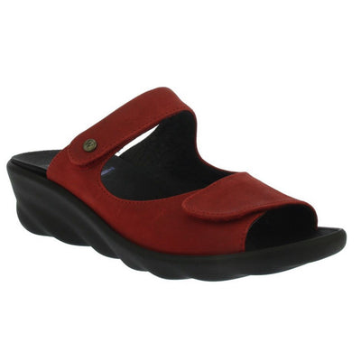 Wolky, Bolena, Slide Sandal, Antique Nubuck, Red Sandals Wolky Red 37