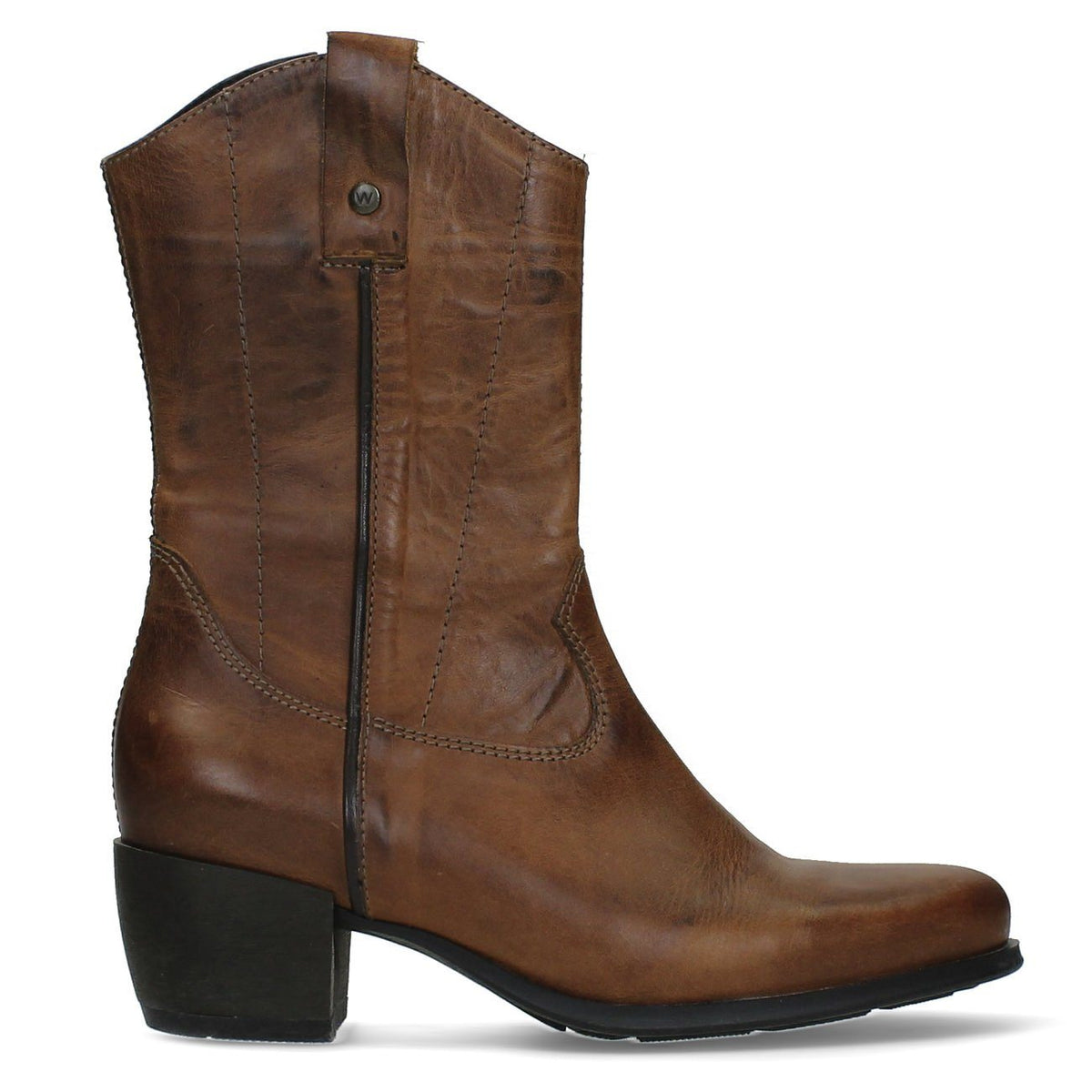 Wolky, Caprock, Boots, Softy Wax Leather, Ladies, Cognac Boots Wolky