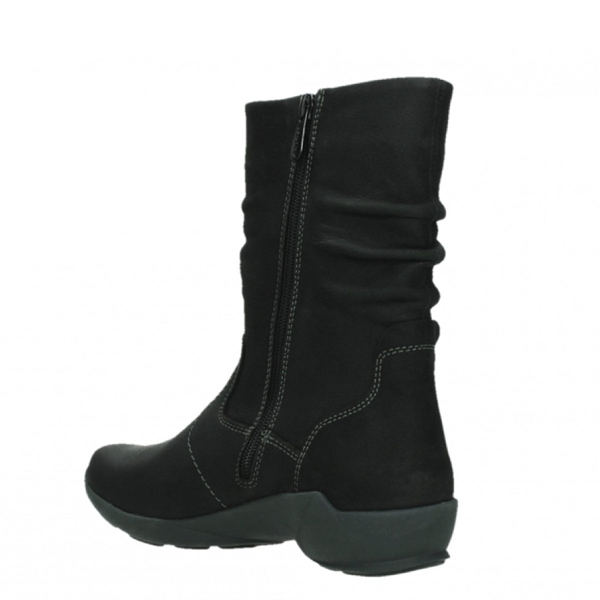 Wolky, Luna WP, Boot, Antique Nubuck, Ladies, Black Boots Wolky