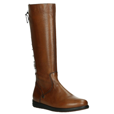 Wolky, Vector, Boots, Velvet Leather, Ladies, Cognac Boots Wolky Cognac 37