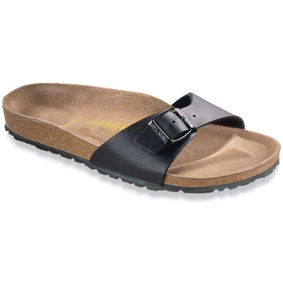 Birkenstock, Madrid, Narrow Fit, Birko-Flor, Black Sandals Birkenstock Classic Black 42