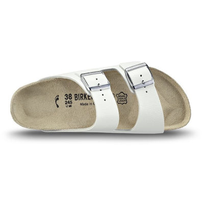 Birkenstock Classic, Arizona, Narrow Fit, Leather, White Sandals Birkenstock Classic