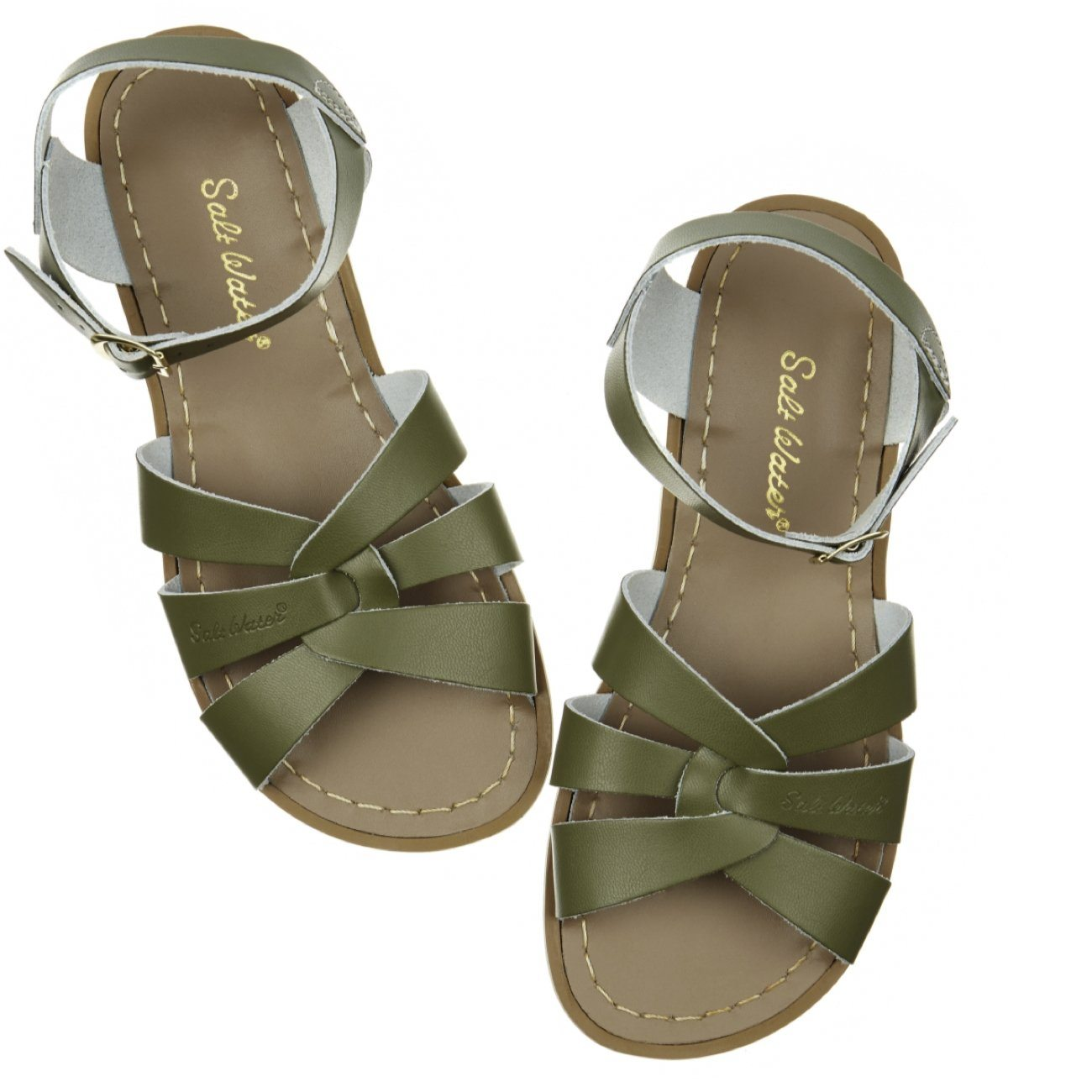 Salt Water Sandals, Original, Youth, Olive Sandals Salt Water Sandals Olive Y1