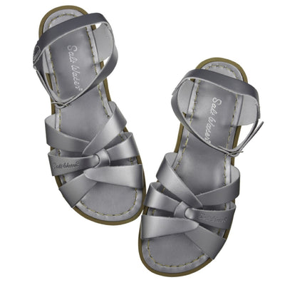 Salt Water Sandals, Original, Child, Pewter Sandals Salt Water Sandals Pewter 10