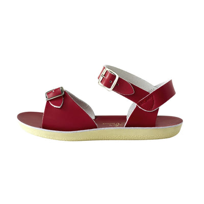 Salt Water Sandals, Sun-San Surfer, Youth, Red Sandals Salt Water Sandals