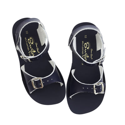 Salt Water Sandals, Sun-San Surfer, Youth, Navy Sandals Salt Water Sandals Navy 2