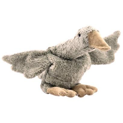 Organic Cotton Cuddly Goose - Grey - Large - Monkeynmoo