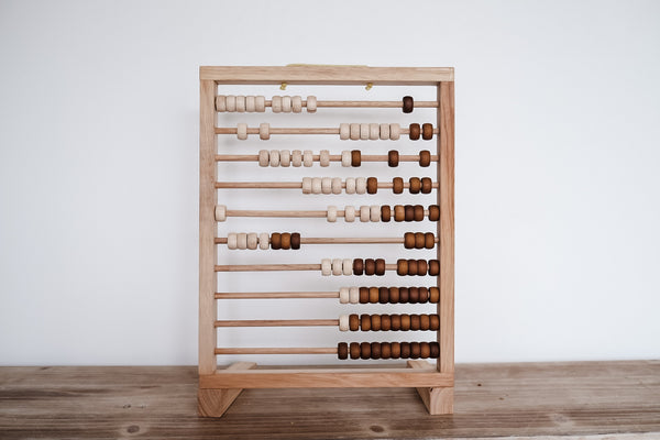 Natural folding abacus