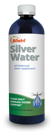High Quality pH Balanced Silver Water Solution 12 PPM - 16oz Bottle