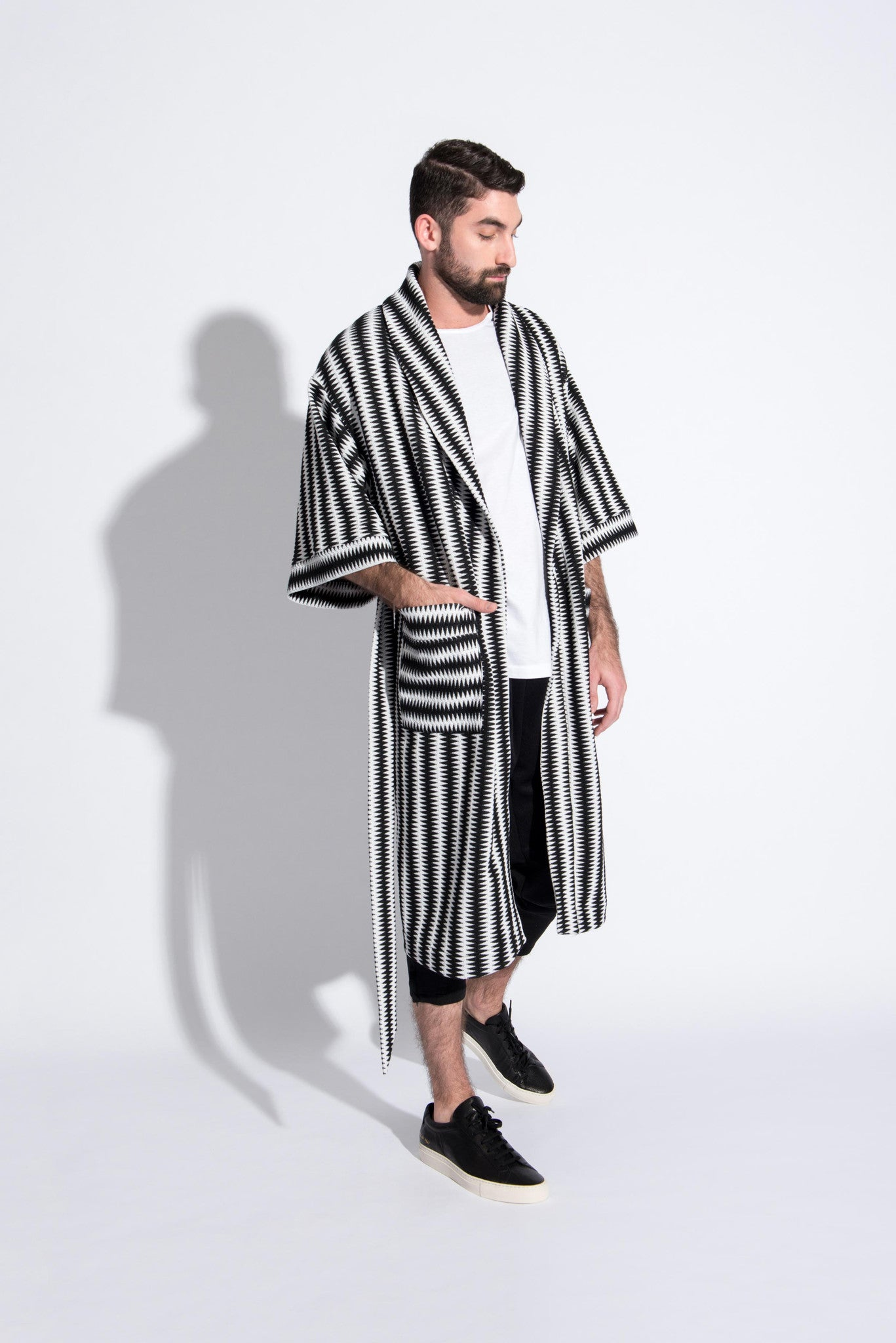 Vestment unisex zig-zag robe. Custom made in USA. 3/4