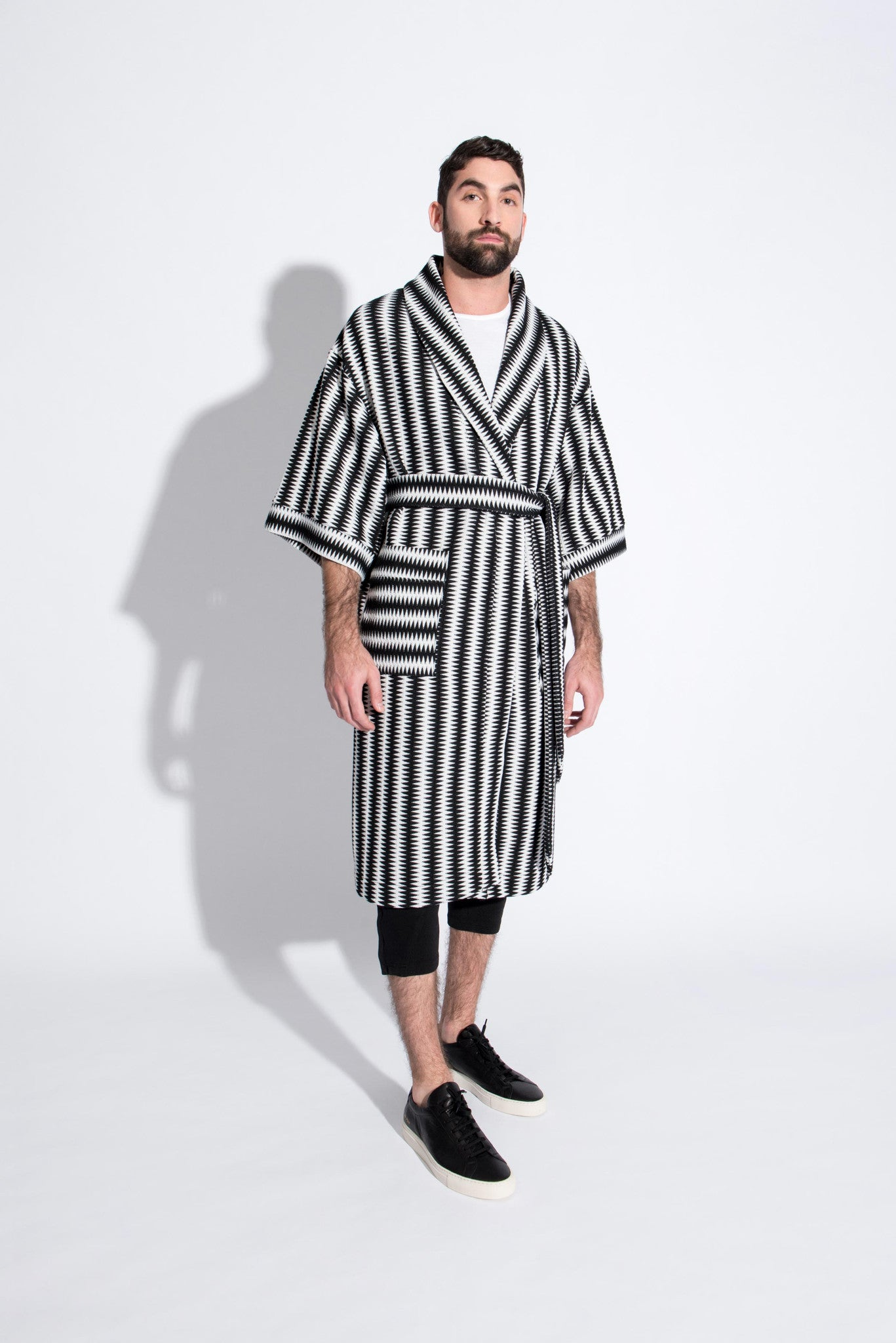 Vestment unisex zig-zag robe. Custom made in USA. Front
