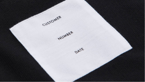 Custom Vestment Label