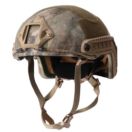 AA SHIELD® A-TACS Camo ACH MICH HIGH CUT Ballistic Helmet Level NIJ III-A with NVG mount and Side Rail