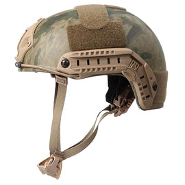 AA SHIELD® A-TACS-FG Camo ACH MICH HIGH CUT Ballistic Helmet Level NIJ III-A with NVG mount and Side Rail