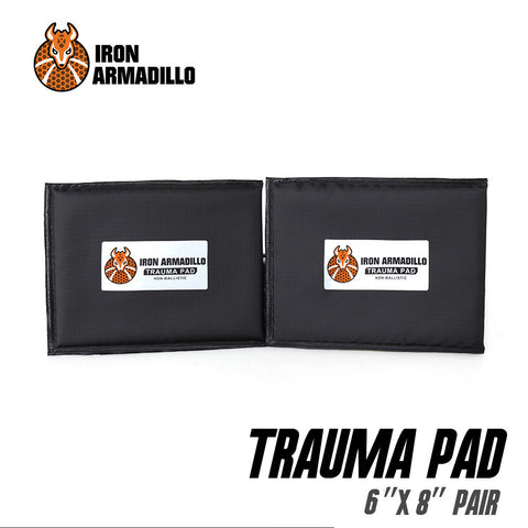 "AA SHIELD® x Iron Armadillo®Trauma Pad 6""x 8"" Pair (Not Bulletproof or Stab Resist!)"