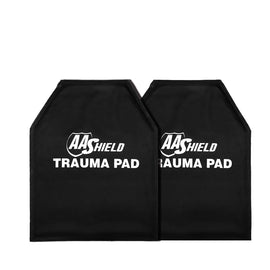 "AA SHIELD® Trauma Pad PLUS 10""X12"" SHOOTER'S CUT High Temperature Resistance & Flame retardant  (Not Bulletproof or Stab Resist!)"