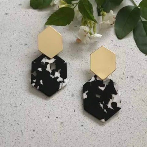 Alisa Drop Earring - Black