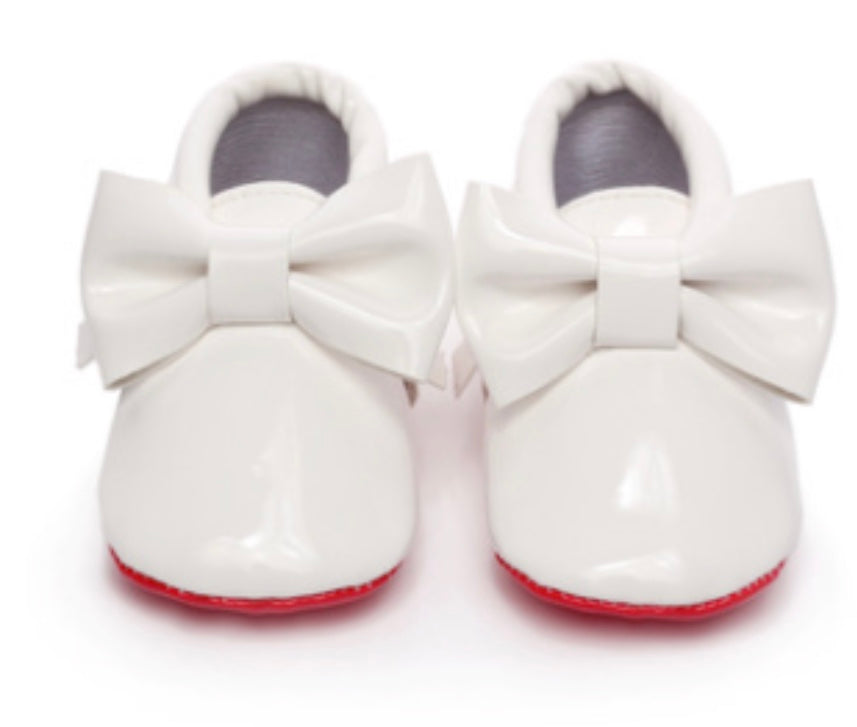 Loubooties - Gloss White/Red Bottom