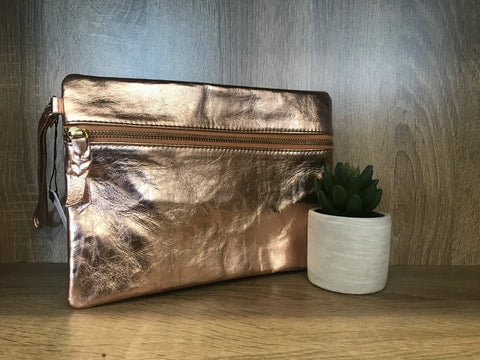 Rosay Leather Clutch