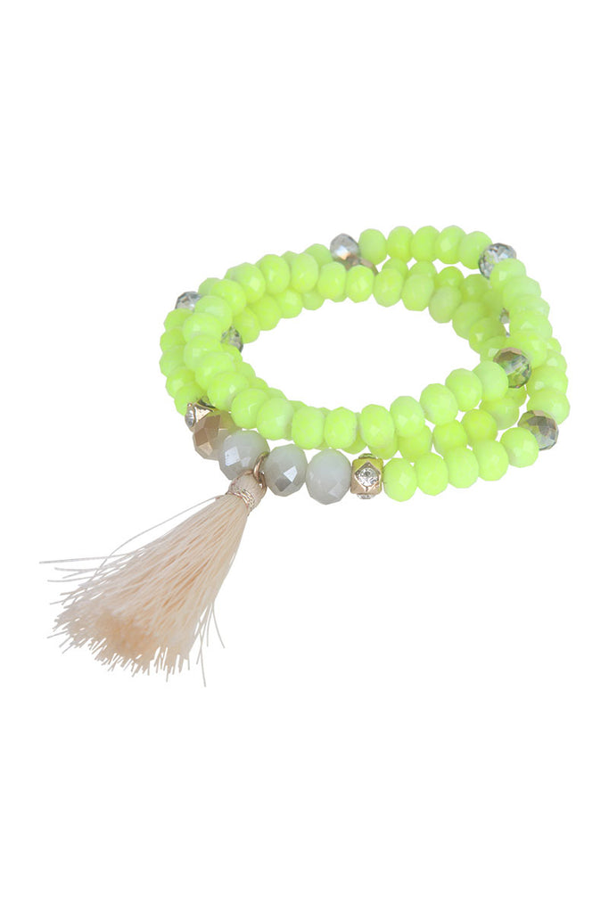 Caicos Bracelet/Necklace - Neon Yellow