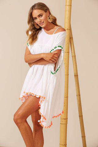 Costa Brava Dress - White