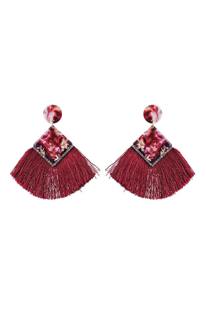 Mendoza Fan Earring - Shiraz