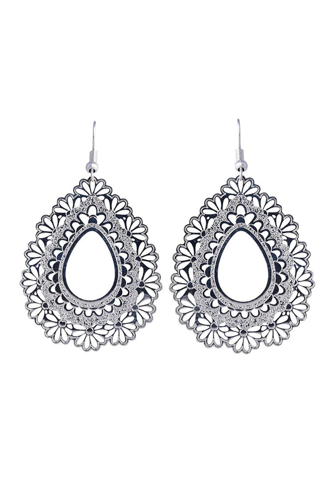 Messina Earring - Silver Teardrop