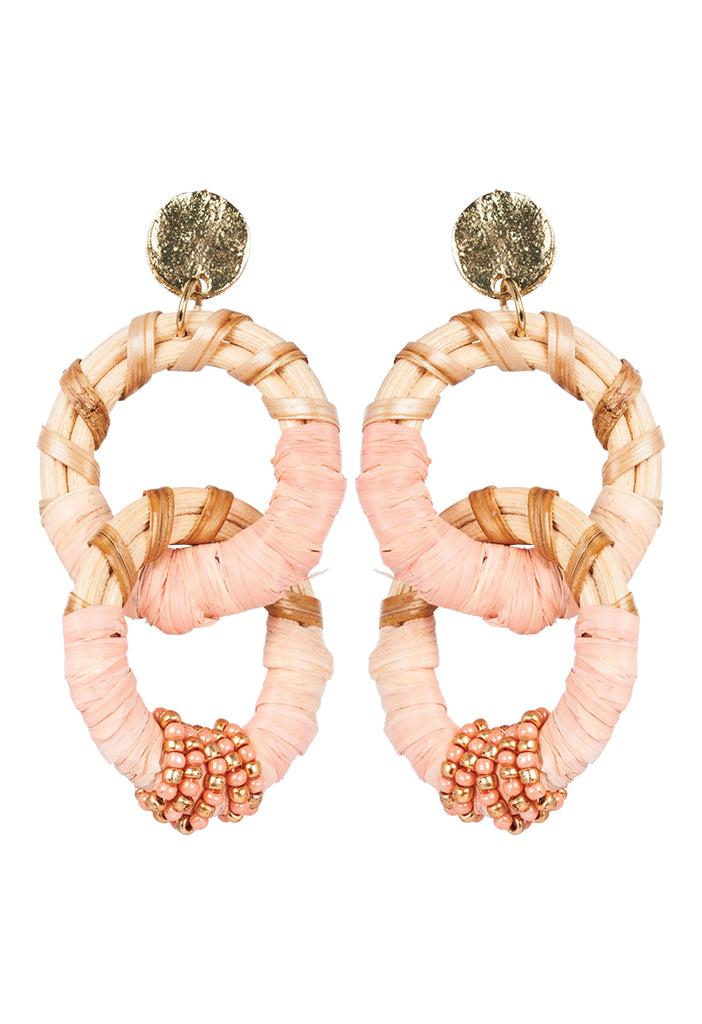 Savannah Link Earring - Coral