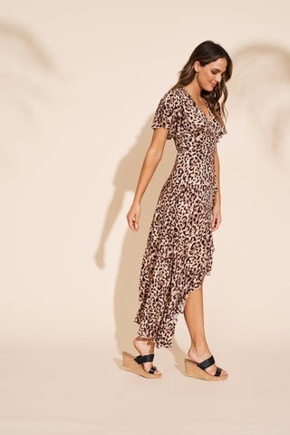 Savannah Wrap Dress - Leopard