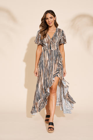 Savannah Wrap Dress - Zebra