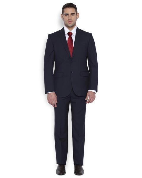 Park Avenue Luxus Wool Blend Blue Regular Fit Suit