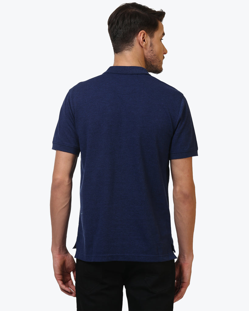 ColorPlus Navy Blue Tailored Fit T-Shirt