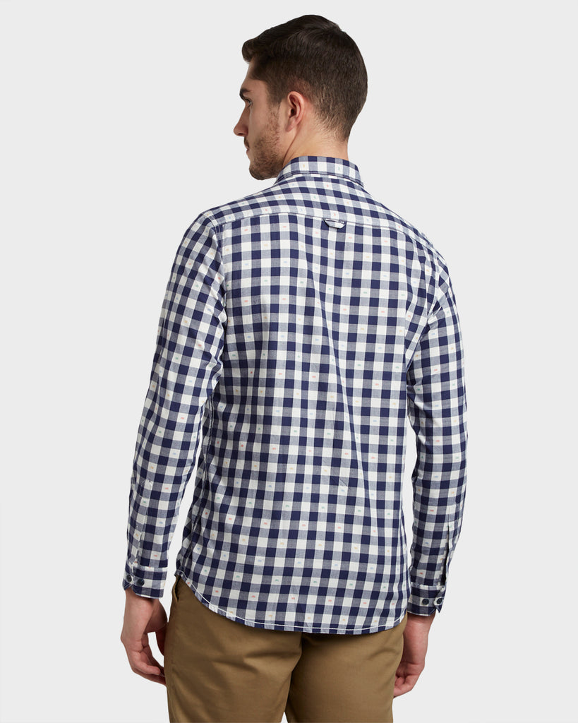 ColorPlus Dark Blue Regular Fit Shirt