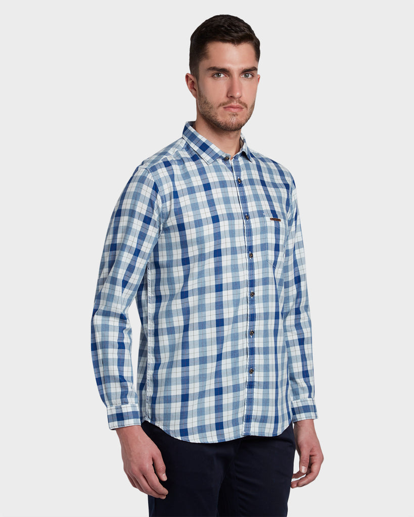 ColorPlus Dark Blue Slim Fit Shirt