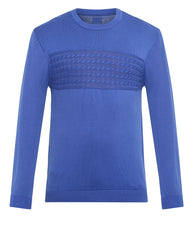 ColorPlus Blue Tailored Fit Sweater